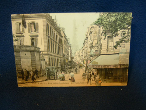 rue Saint Dominique postcard, 1908