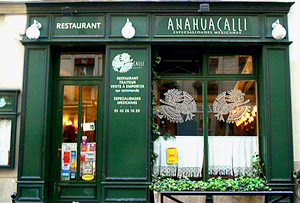 Anahuacalli restaurant Paris