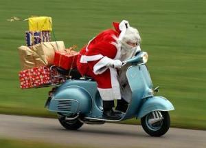 Santa on a Vespa