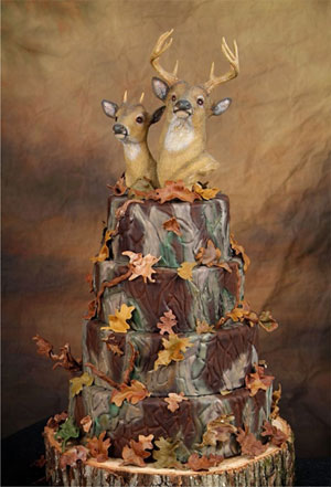 I was then astounded to find the perfect wedding cake for the obsessive deer